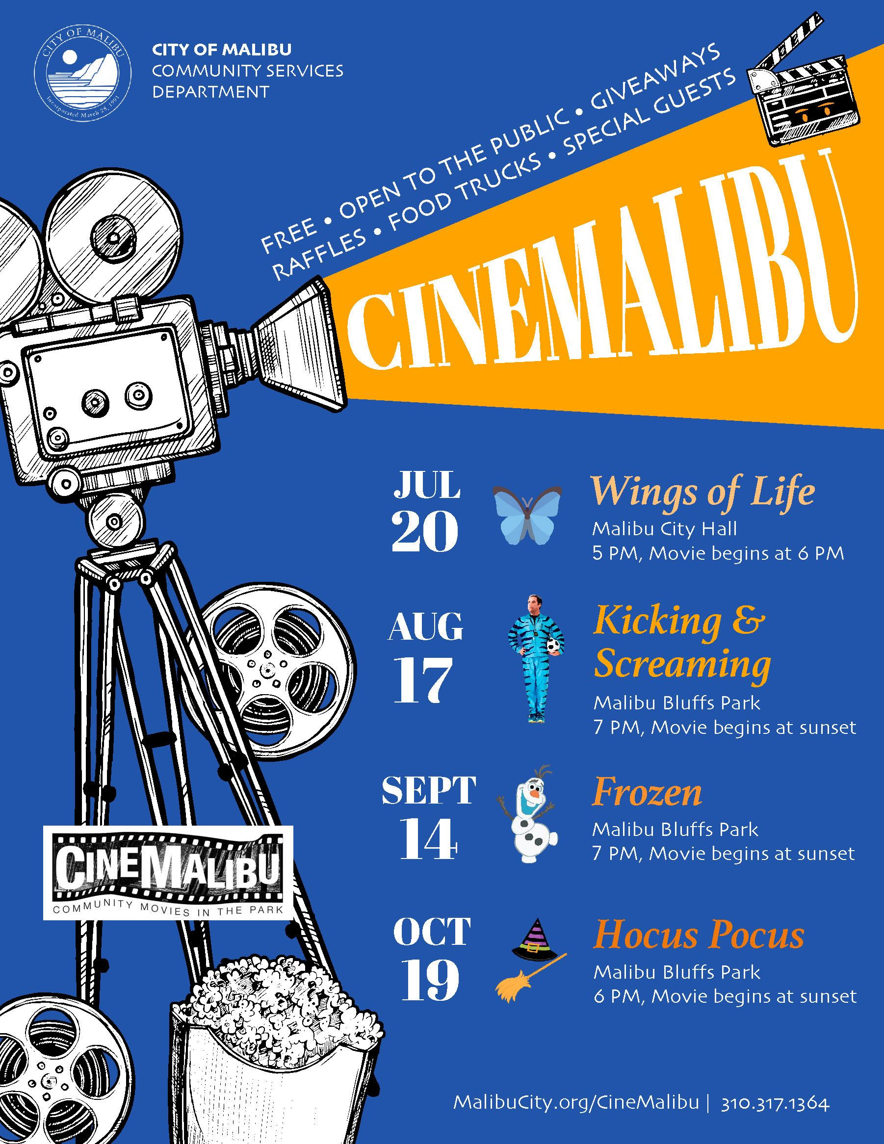 CineMalibu, Movies in the Park Summer 2019