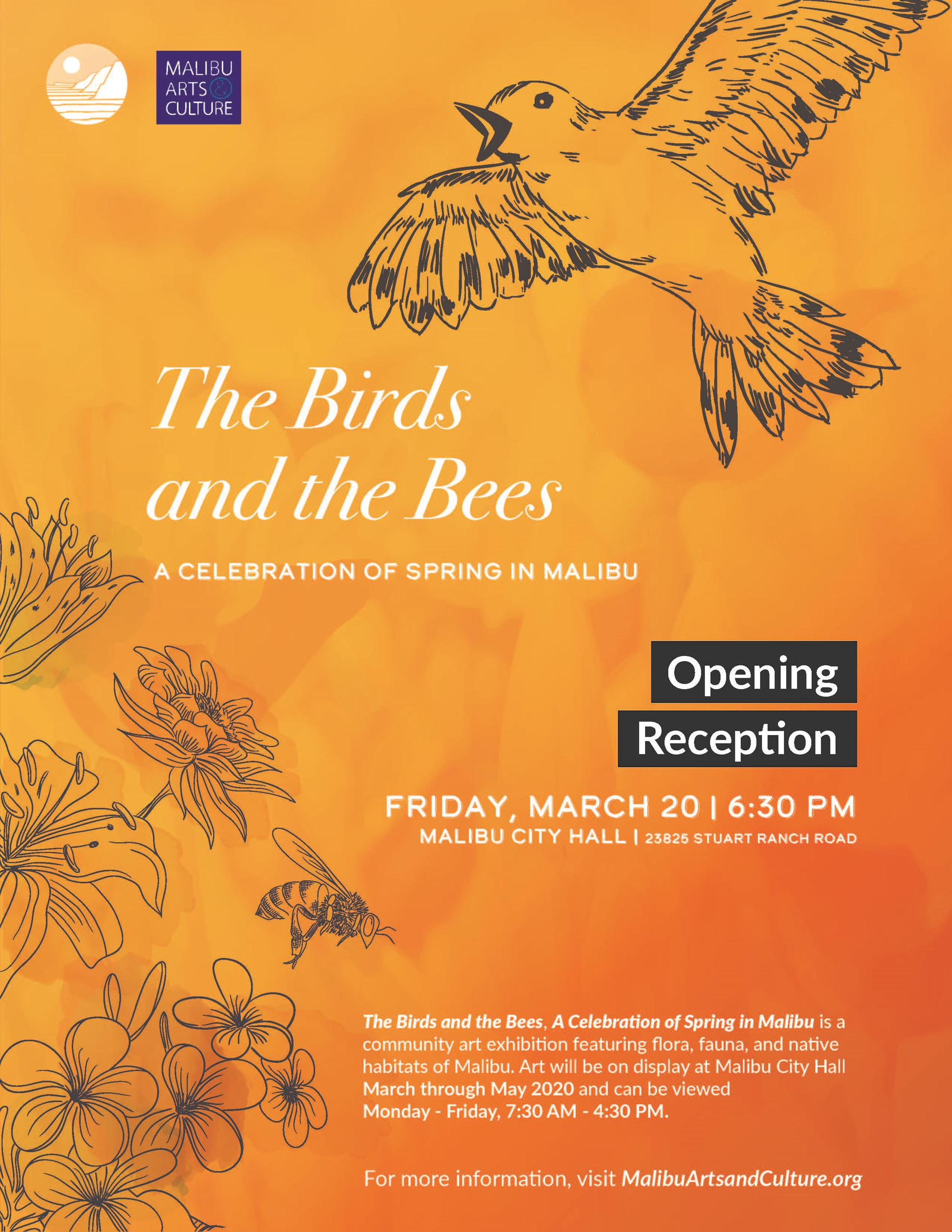 Opening Reception March 20, 2020 Birds and Bees Art Exhibition