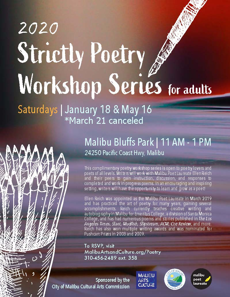 2020 Poetry workshop MARCH 21 CANCELED