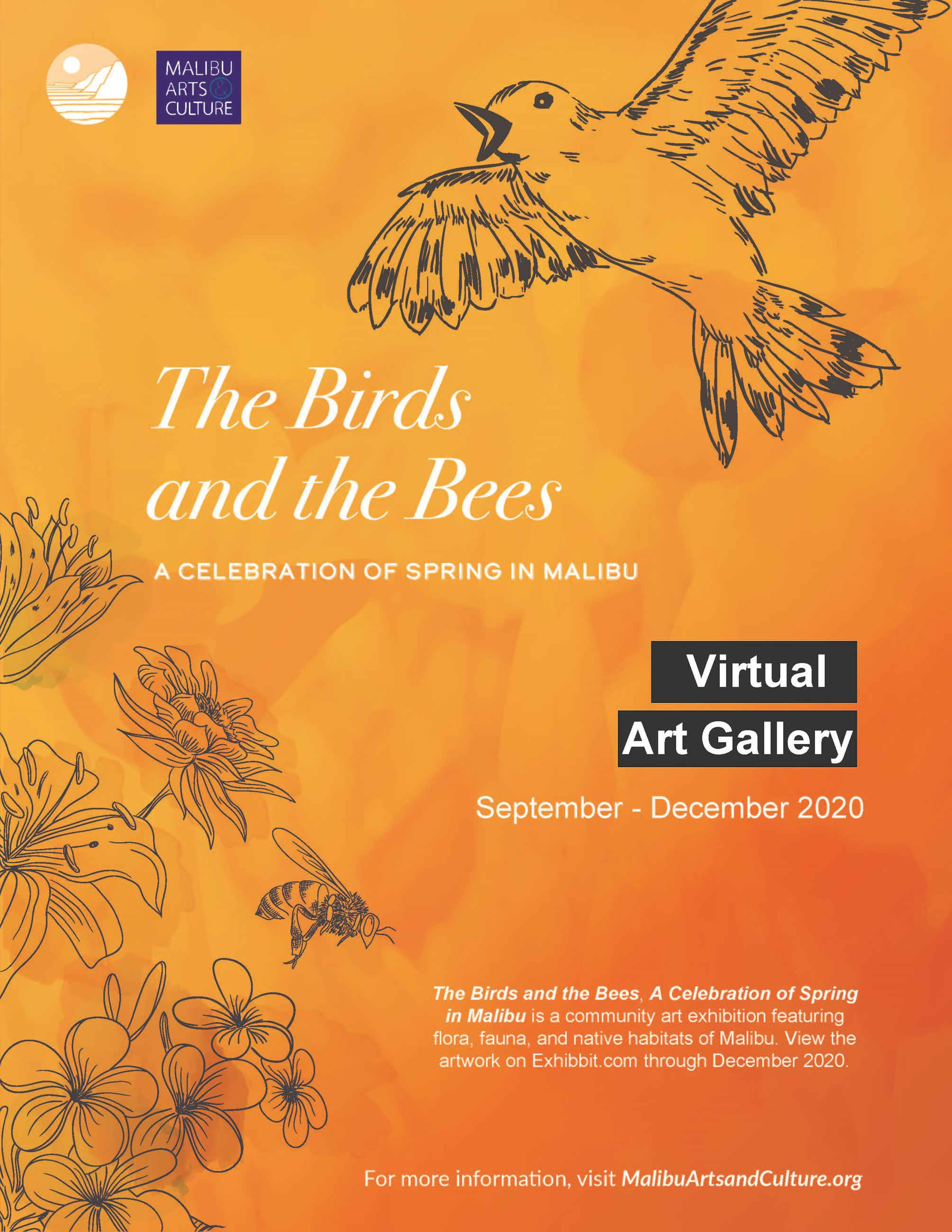 2020 Birds and Bees virtual exhibition flyer